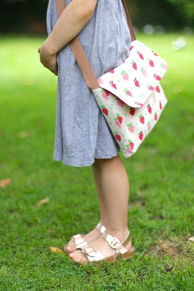 Детская сумка-почтальон своими руками