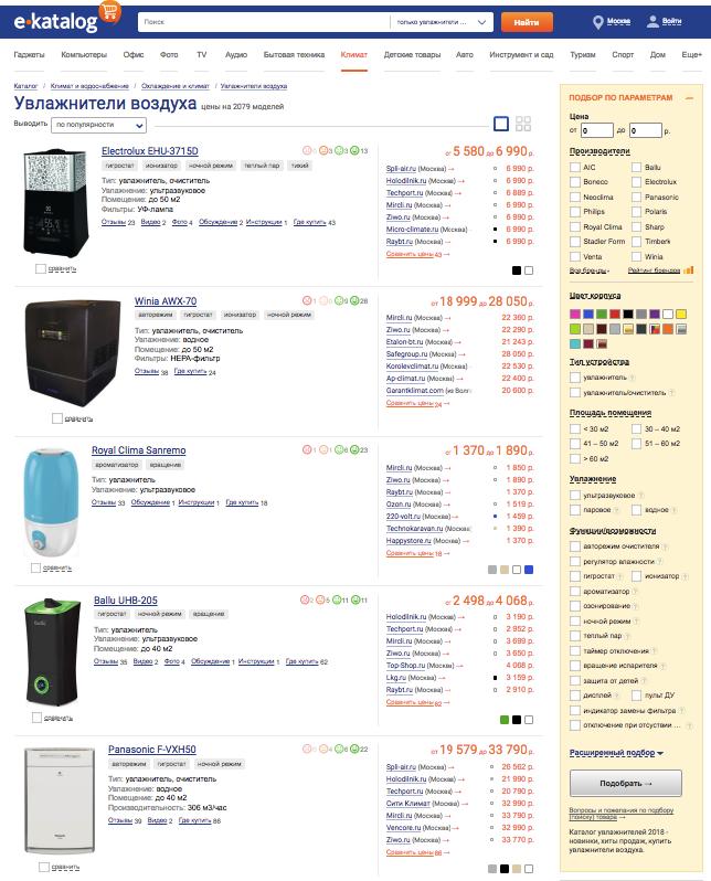 Увлажнитель воздуха: тонкости выгодной покупки онлайн