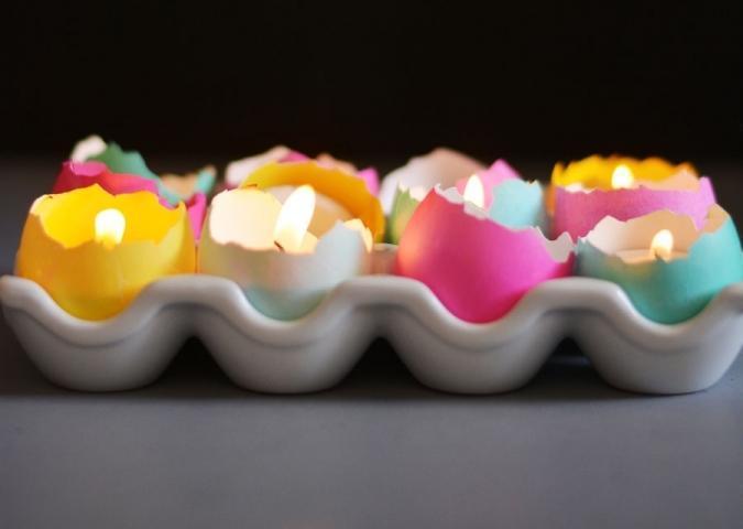 Как легко сделать пасхальные свечи своими руками