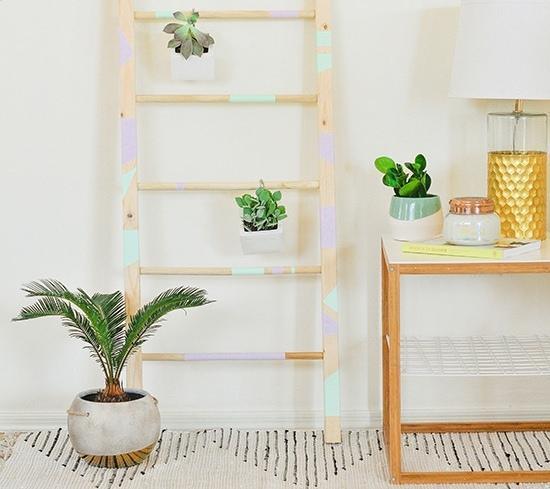 Как сделать декоративную лестницу для подвесных цветочных горшков