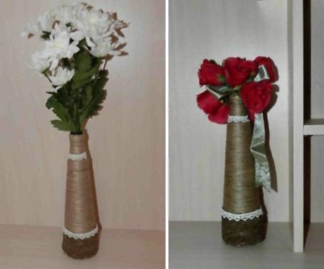 Как сделать вазу избутылки