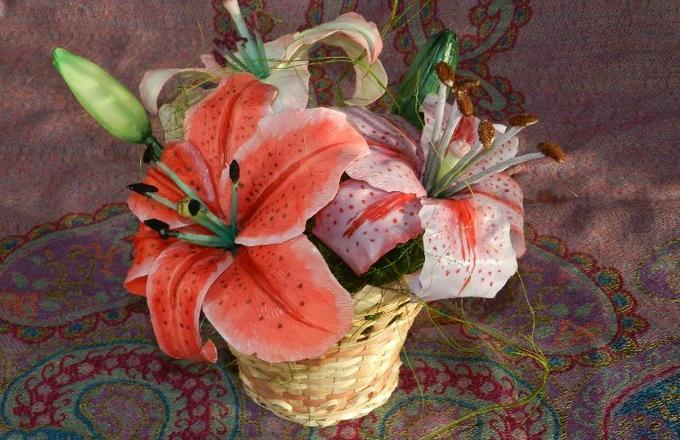 Изготовление лилии изхолодного фарфора