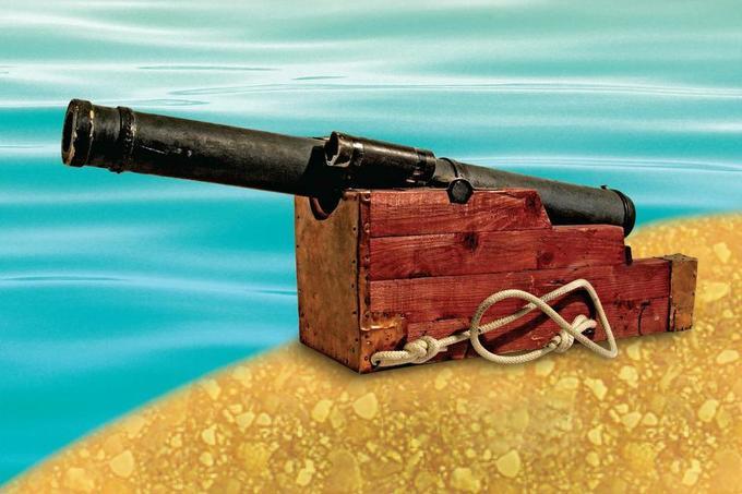 Старинная пушка своими руками