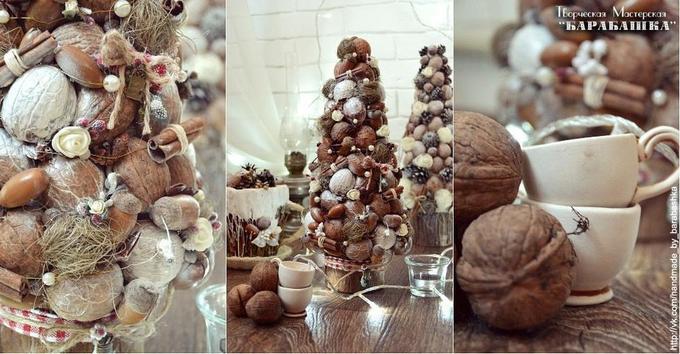 Новогодний декор своими руками: елка изэко-материалов