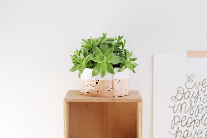 Как сделать декоративный горшок для цветов изглины