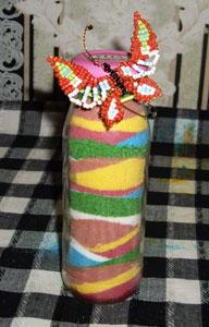 Декоративные бутылки ссолью