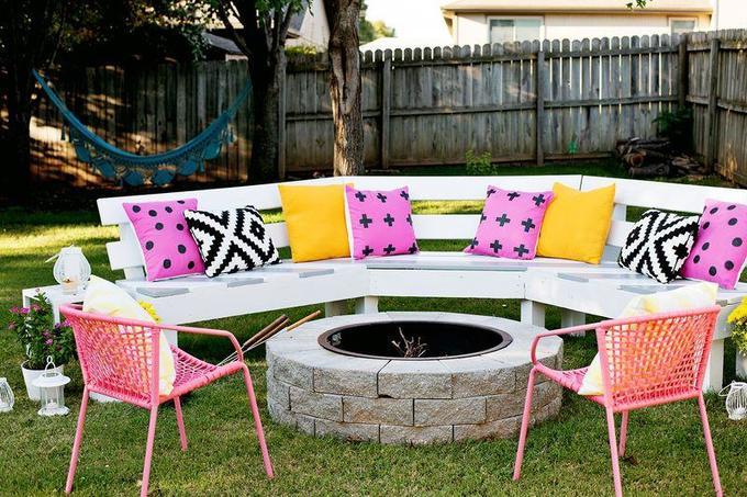 Как сделать садовую скамейку соспинкой своими руками