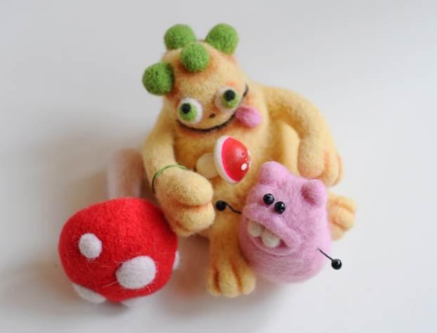 Мастер класс для начинающих: сухое валяние игрушек изшерсти