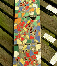 Стеклянная мозаика: как клеить цветное стекло