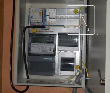 Заземление электрический шкаф