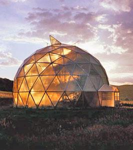 геосфера (геодезический купол) для быстрого строительства без земляных работ и вмешательства в природную среду