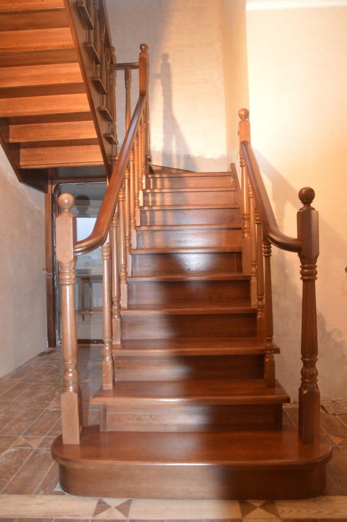 Лестницы из дерева фото
