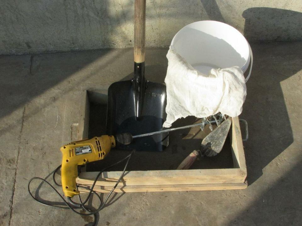 Инструменты для приготовления раствора
