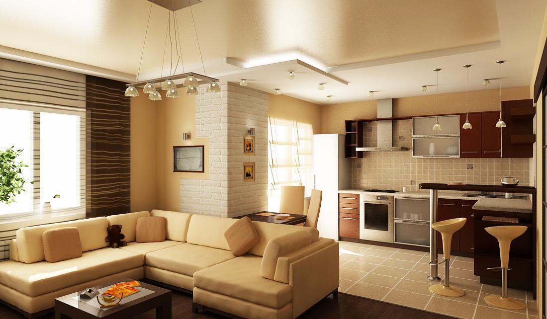 Дизайн квартир совмещение кухни и гостиной