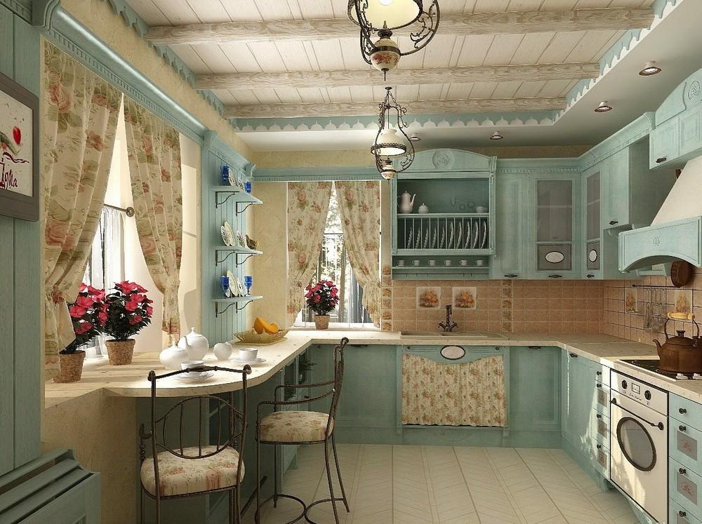 Кухня в стиле прованс дизайн фото