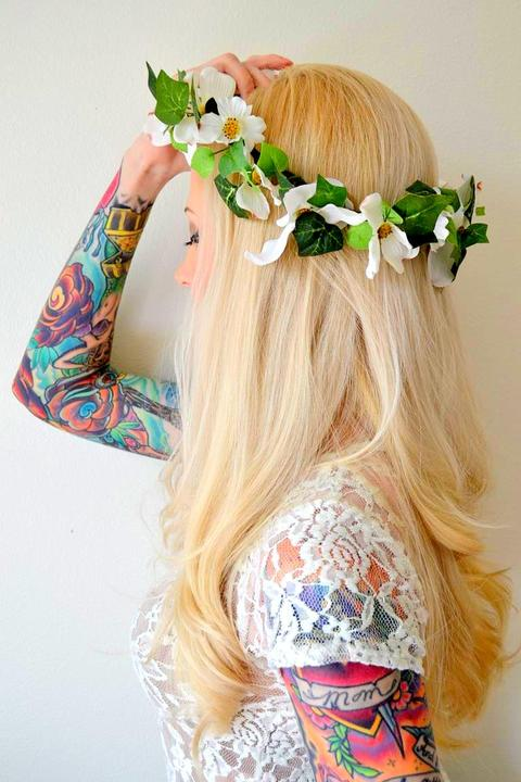 Венки на голову из цветов своими руками фото 264