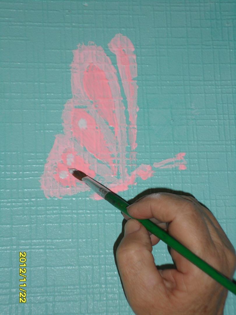 Бабочки роспись