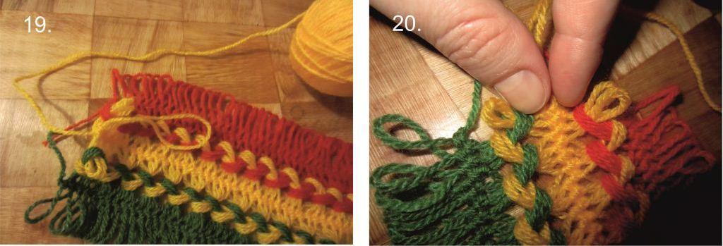 Как связать шарфик