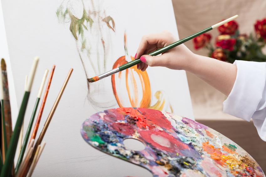 Картинки художник рисует картину картинки