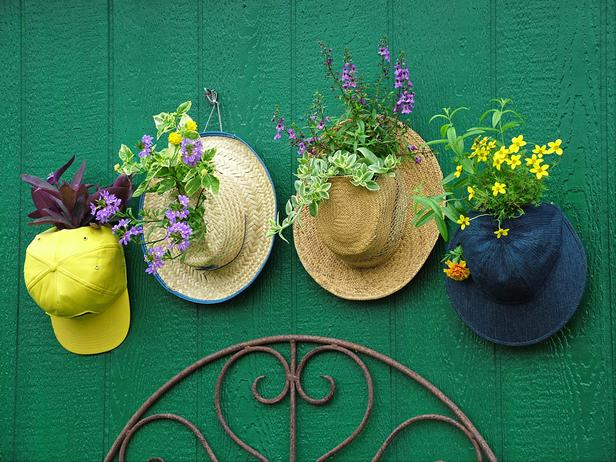 Цветник из шляп