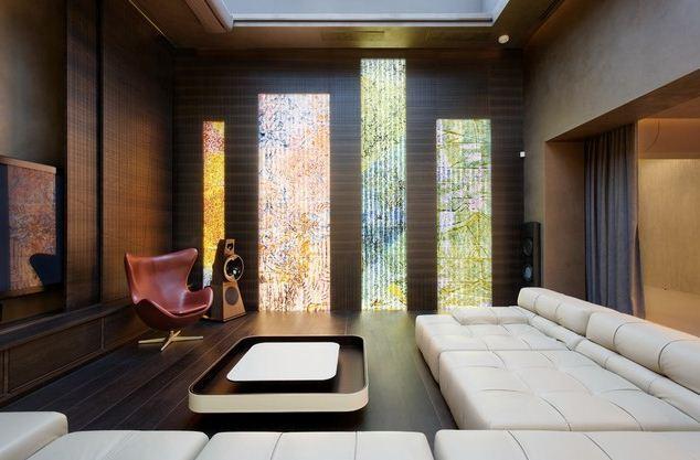 Цветное стекло с внутренней подсветкой
