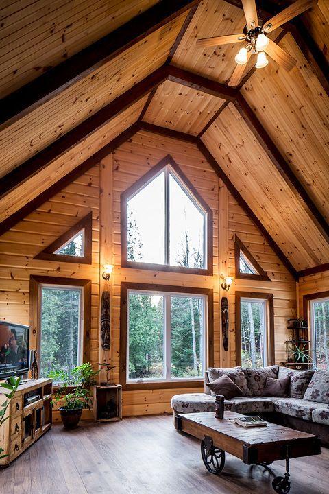 Деревянные стены надаче: идеи дизайна икак защитить древесину