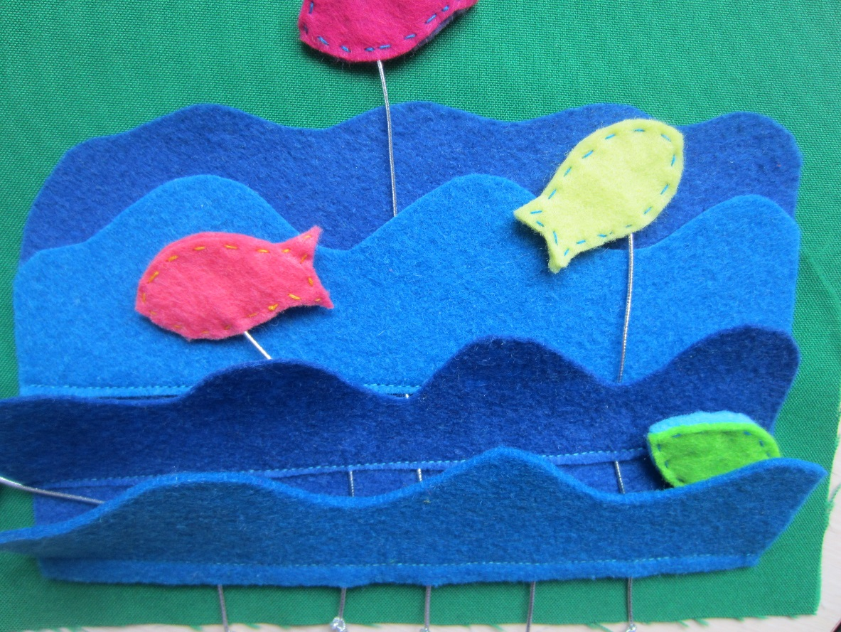 Пришиваем рыбок