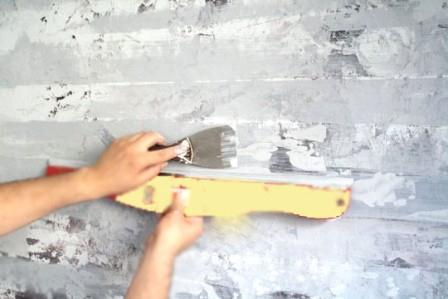 Окраска стены своими руками 18