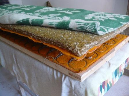 Крепим одеяло