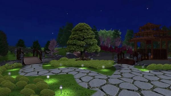 Устройство освещения в саду
