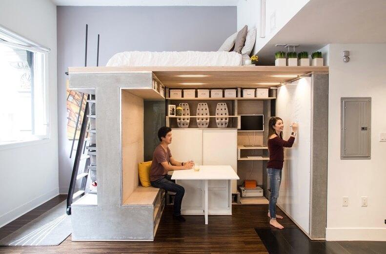 Новая идея интерьера маленькой квартиры