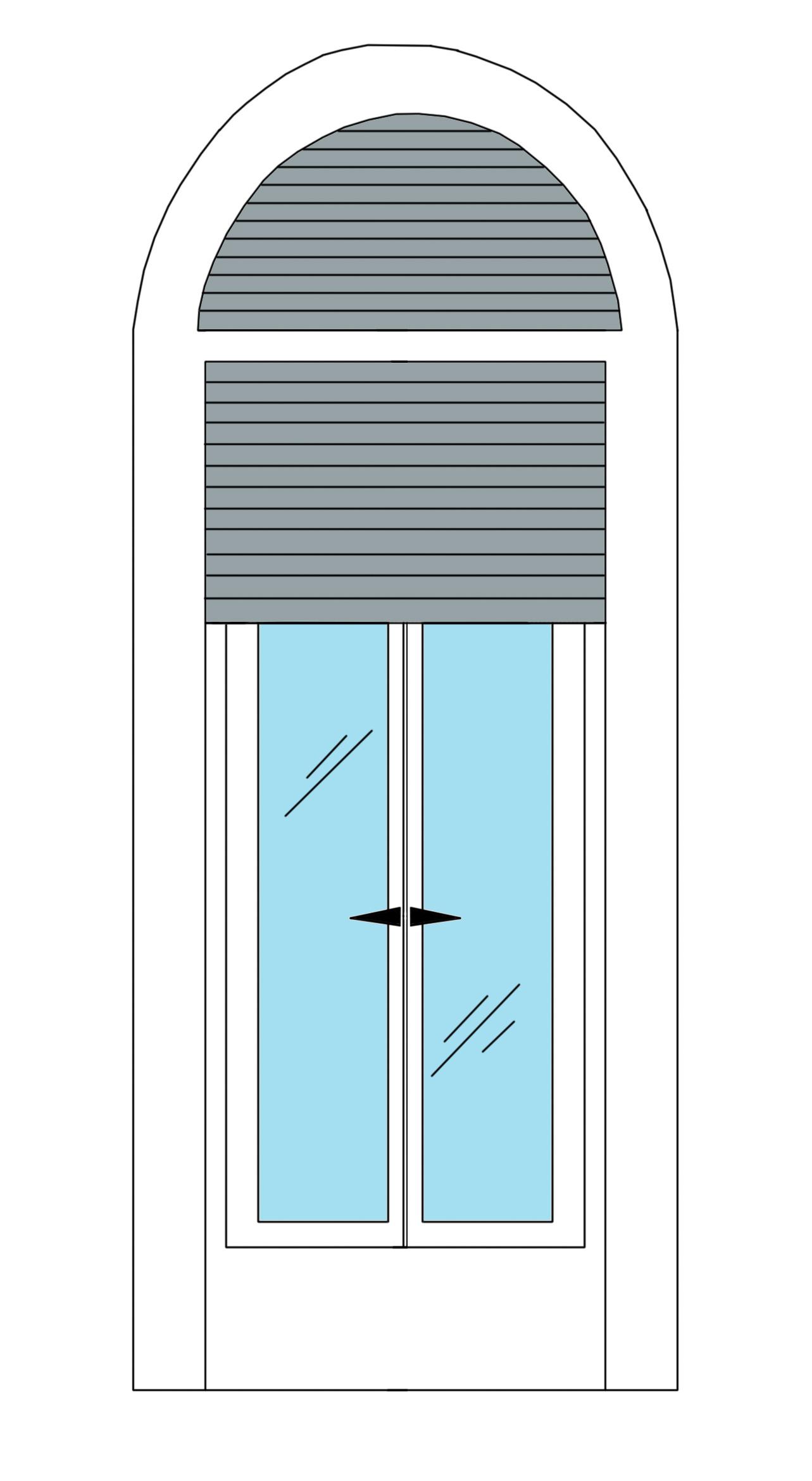 Жалюзи для арочного окна