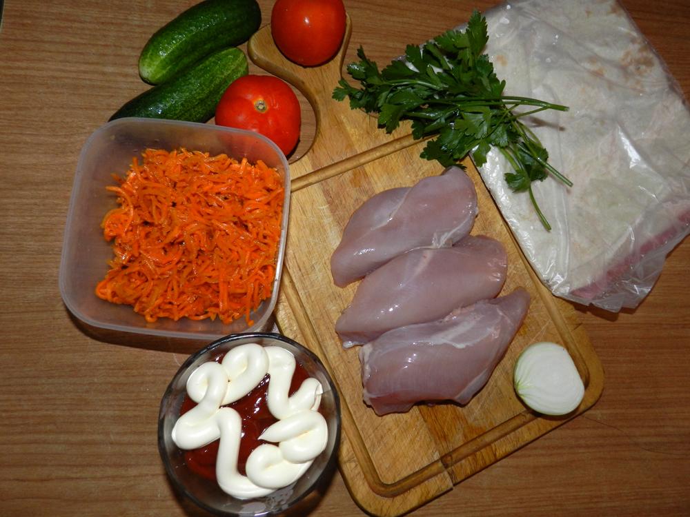 рецепты шаурмы с курицей в домашних условиях с фото