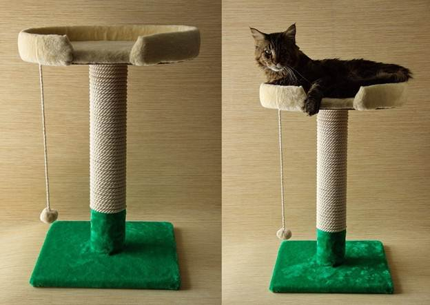Когтеточка для кошки с домиком своими руками