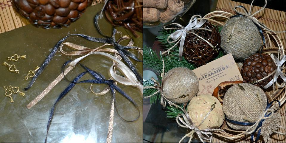 Декор шаров своими руками