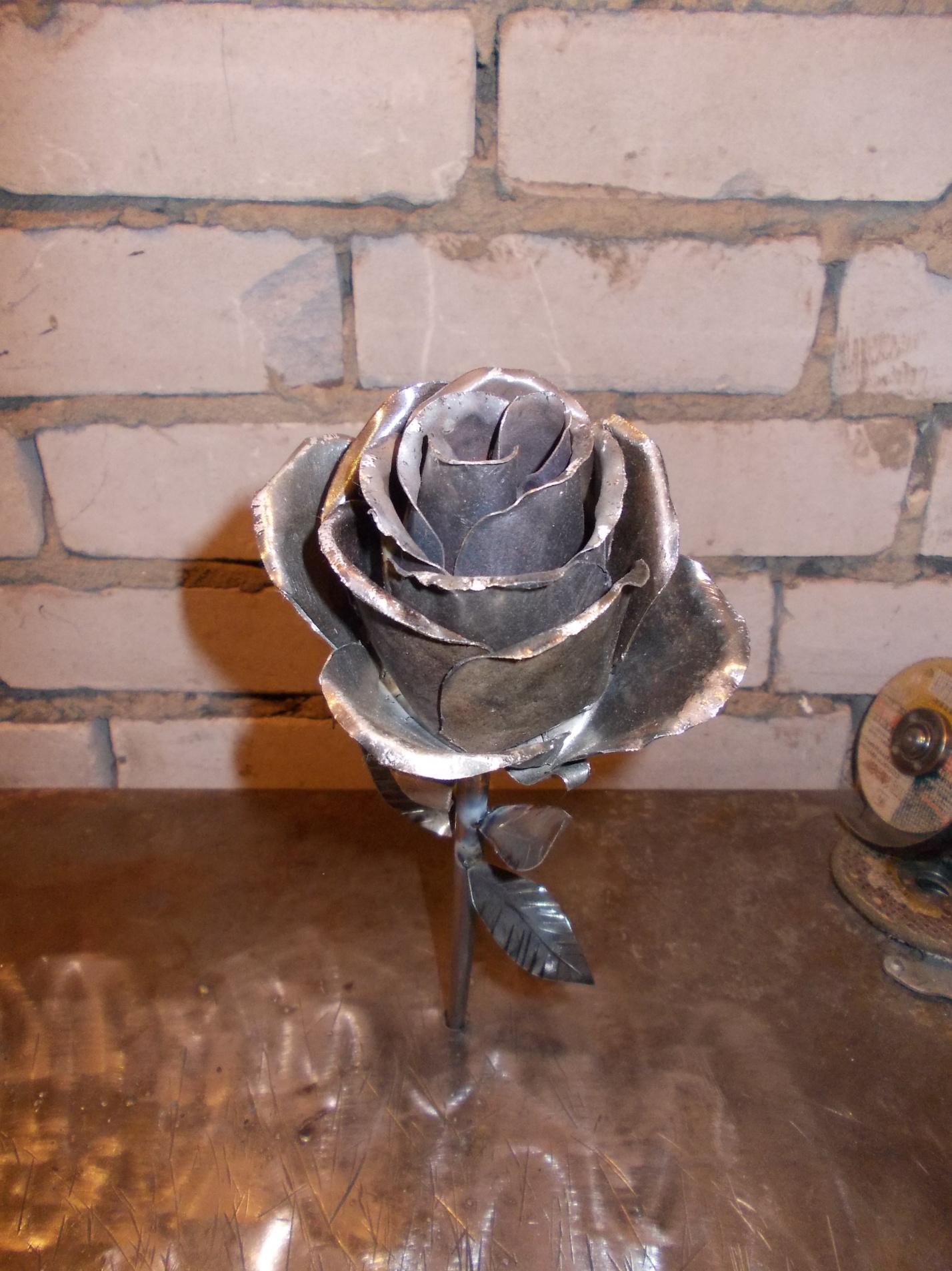 Как из розу из металла своими руками видео
