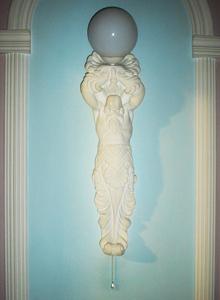 светильник из гипса