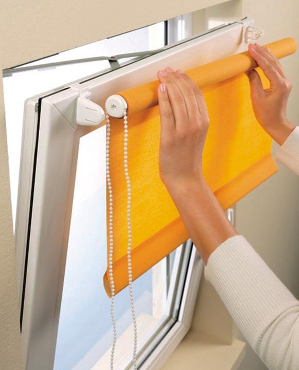 Преображение окна спомощью рулонных штор