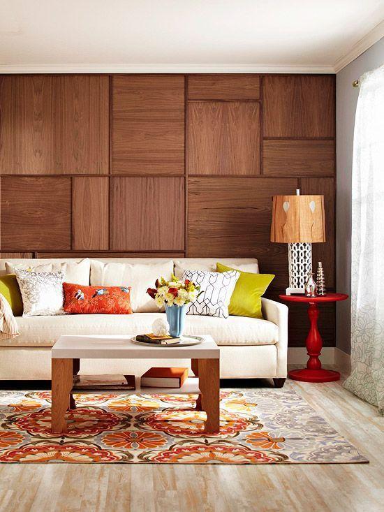 Деревянная стена, которая полностью преобразит интерьер!