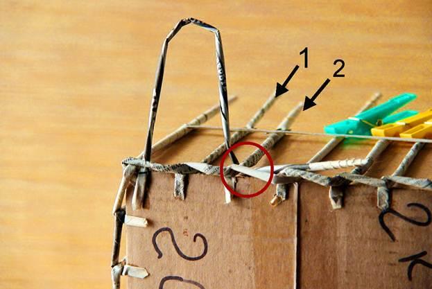 Схема плетения газетными трубочками