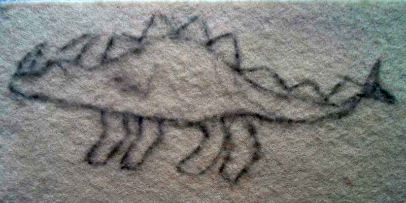 Динозавр из фетра