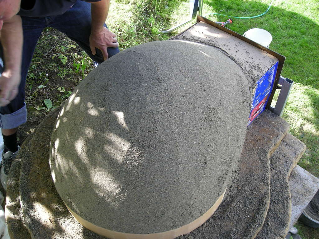 Глиняная печь для пиццы своими руками