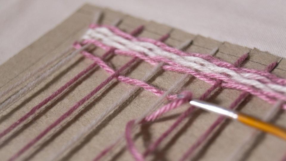 Плетение из ниток ковров