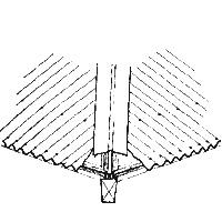 Оформление ребра крыши