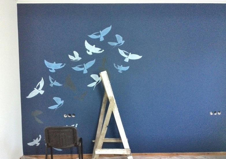 Стена с росписью
