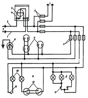 Схема внутренней проводки