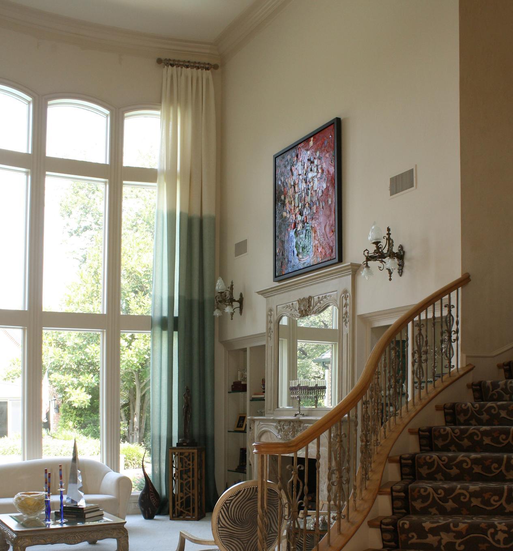шторы Ombre в гостиной
