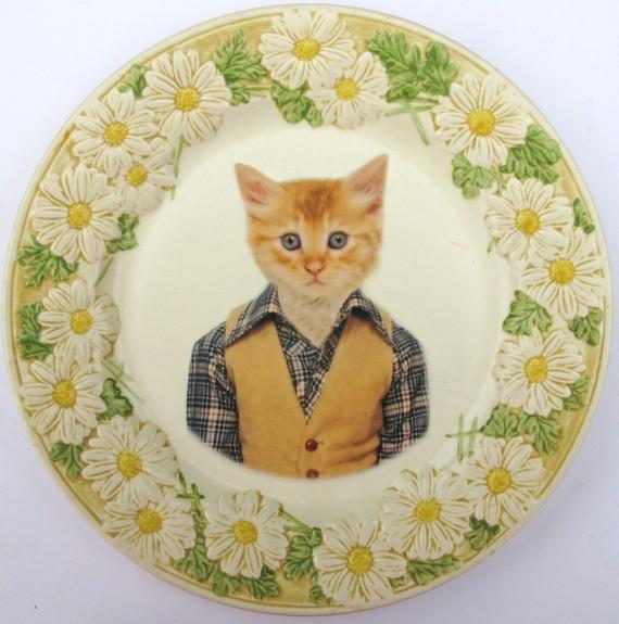 Тарелка с портретом кота