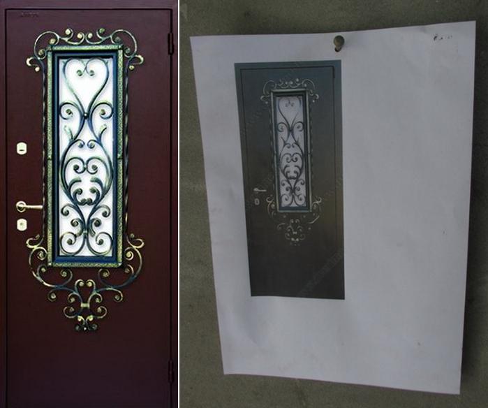 Эскиз металлической двери