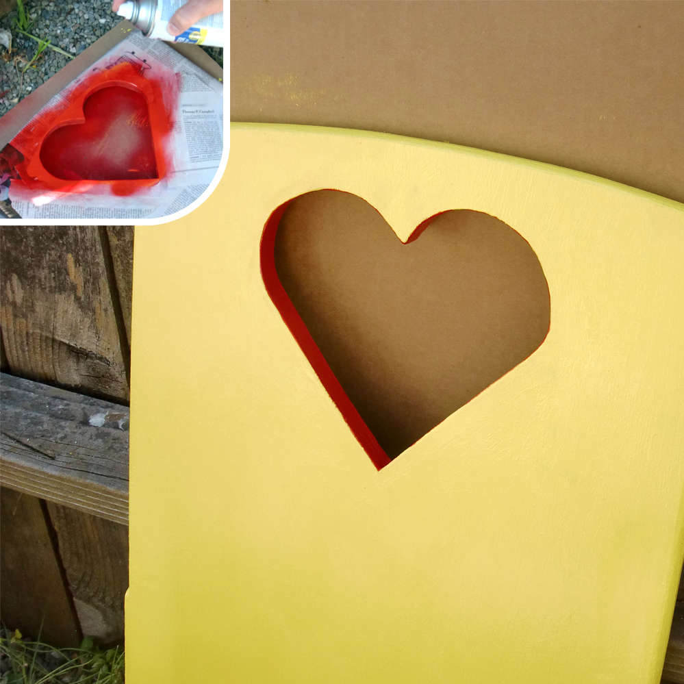 Покрасьте кресло-качалку